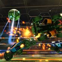 Deux voitures qui se percutent dans Rocket League