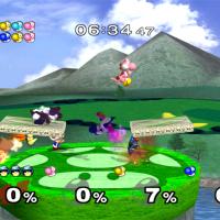 Super Smash Bros Melee combat de Yoshis