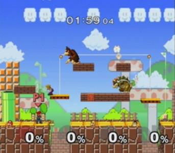 Super Smash Bros Melee tableau Mario