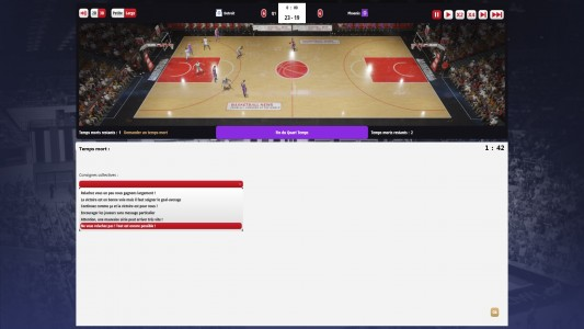Test Basketball Pro Management 2015 / Temps mort