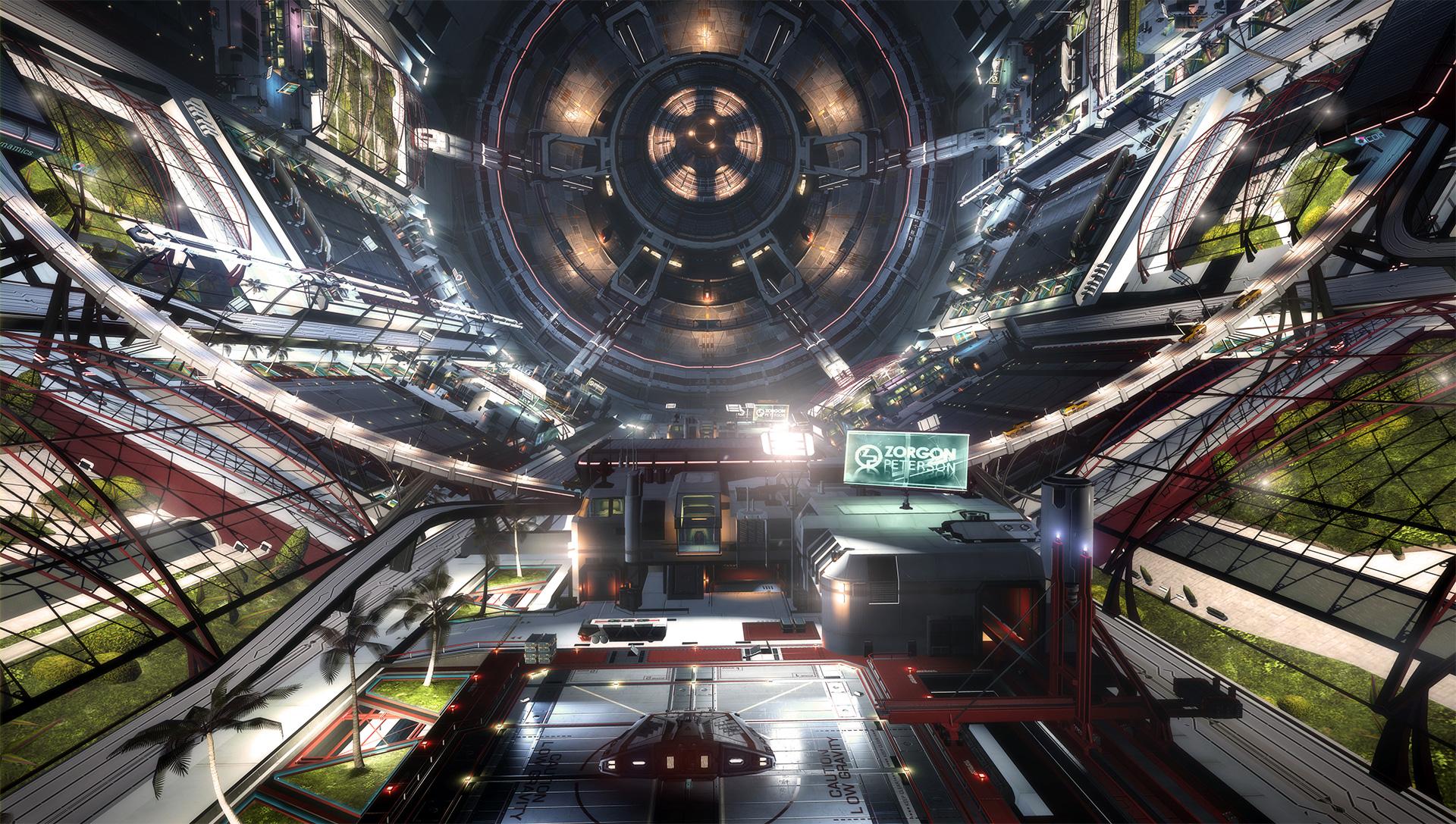 Elite : Dangerous salle principale station
