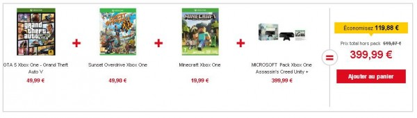 Pack Xbox One Assassin's Creed, GTA 5, Sunset Overdrive, Minecraft