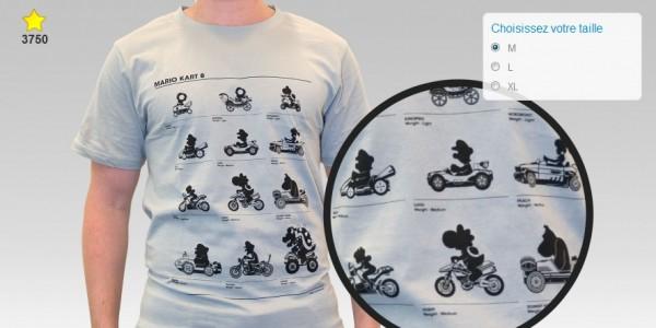 tshirt Mario Kart 8