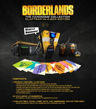 Borderlands Claptrap-in-a-box Edition contenu