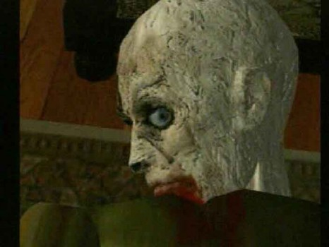Resident Evil zombie gros plan