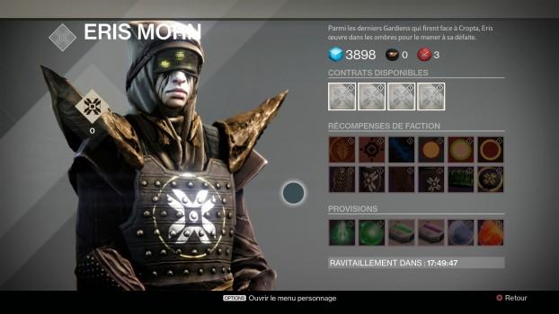 Destiny : Les Ténèbres Souterraines - Eris Morn