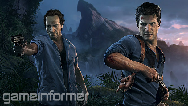Couverture Game Informer d'Uncharted 4.