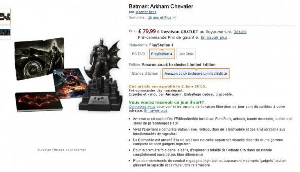 Batman : Arkham Knight Amazon