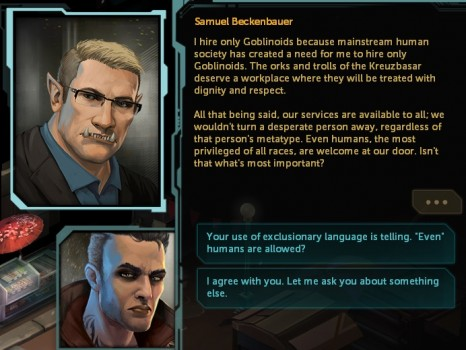 Shadowrun : Dragonfall - Dialogues