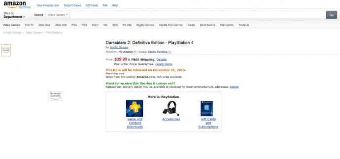 Darksiders II PS4 Amazon