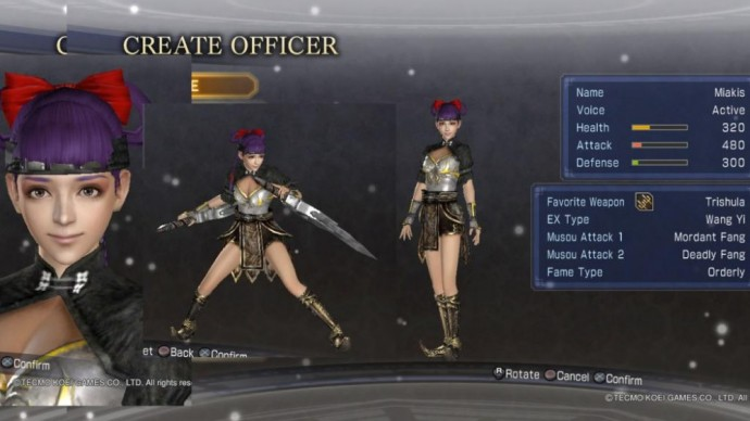 Dynasty Warriors 8 Empires mode création