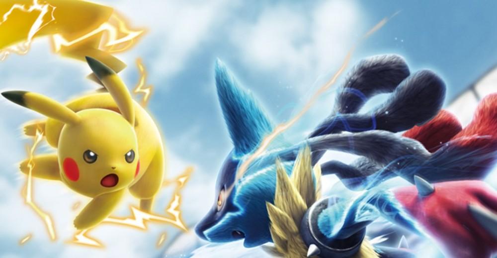 Pikachu en plein combat dans Pokkén Tournament
