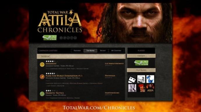 Total War Chronicles, une appli pour Total War ATTILA