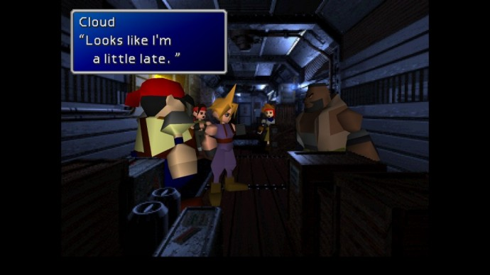 Final Fantasy VII dialogue Cloud Barret Jesse Wedge Biggs