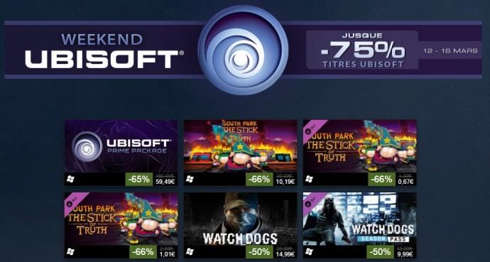 Week-end Ubisoft sur Steam