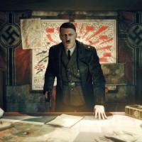 Adolf Hitler devant le plan de defense de Berlin