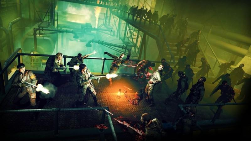 Personnages face aux zombies