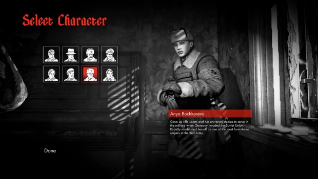 Zombie Army Trilogy Selection personnage