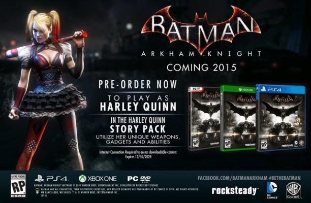 Batman: Arkham Knight, le DLC Harley Quinn fuite sur la toile