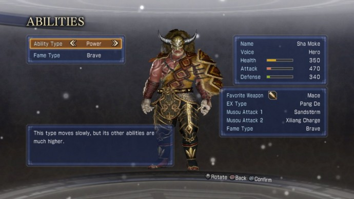 Dynasty Warriors 8 : Empires Personnage