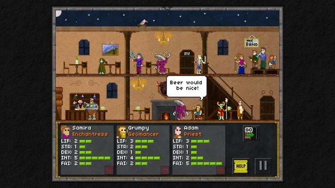 Pixel Heroes taverne