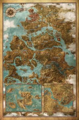Carte du monde The Witcher 3: wild hunt