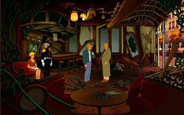 Les Chevaliers de Baphomet café intérieur
