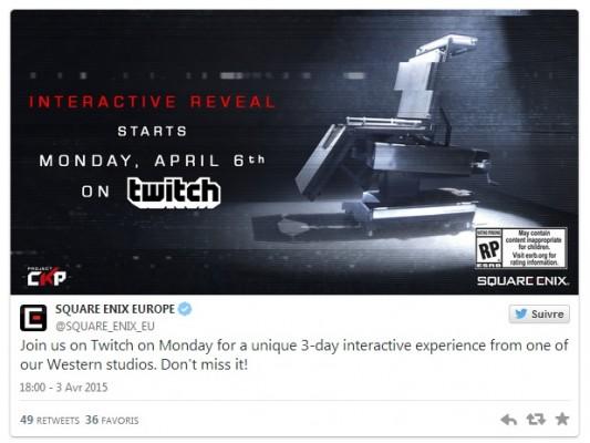 Square Enix annonce une expérience interactive