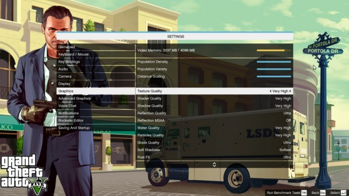 Test Grand Theft Auto V [PC] - LightninGamer - Options graphiques