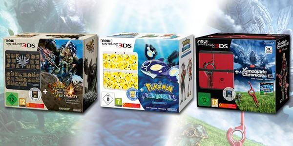 Les trois packs New 3DS