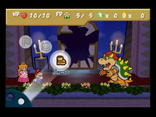 Paper Mario combat Bowser