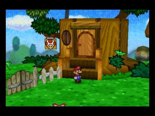 Paper Mario maison Toad