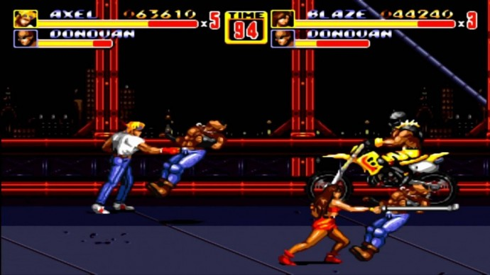 Streets of Rage II motos