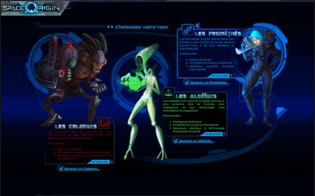 Test de Space Origin [PC] LightninGamer 03 - Races