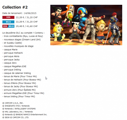 Super Smash Bros contenu téléchargeable 2