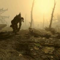 Un griffemort (deathclaw) dans Fallout 4