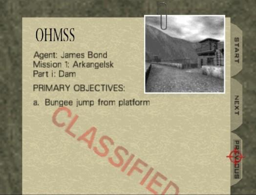 Goldeneye 007 dossier mission
