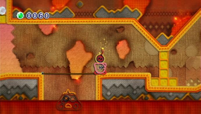 Kirby - monde du volcan