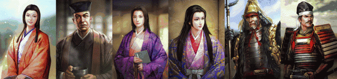 Nobunaga's Ambition - Sphere of Influence fresque personnages