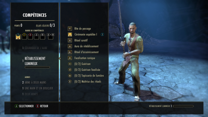 The Elder Scrolls Online - Tamriel Unlimited menu