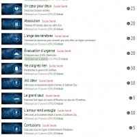 Batman Arkham Knight, la liste des succès LightninGamer (02)