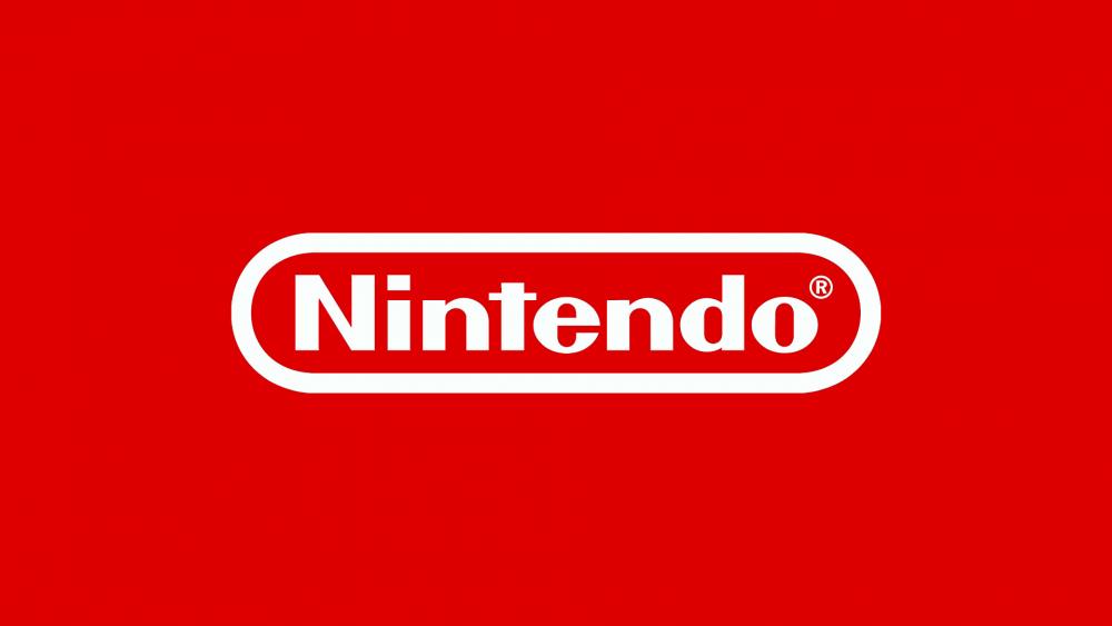 Nintendo Logo sur fond rouge