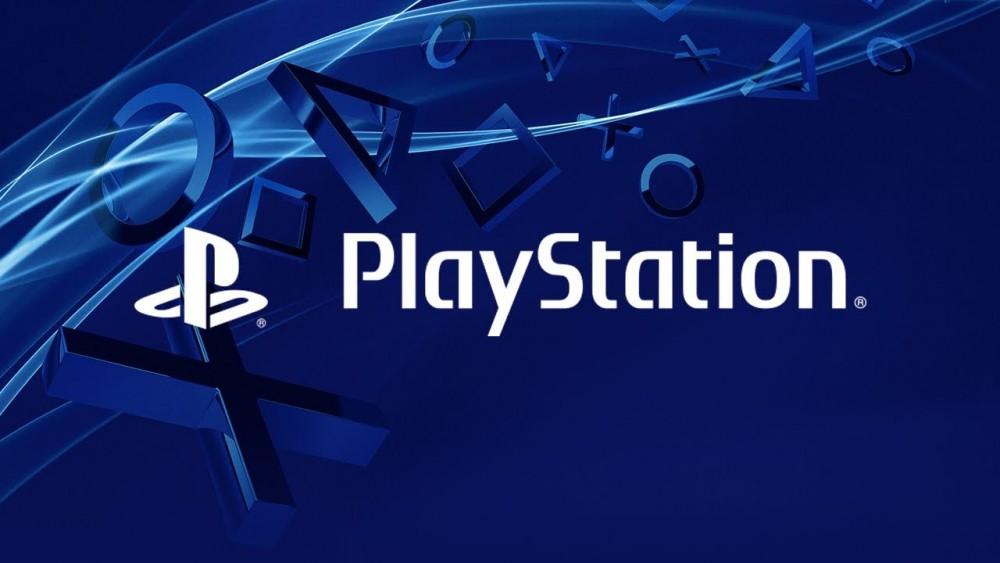 Logo PlayStation sur fond bleu