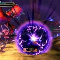 Bahamut et son attaque vortex dans Final Fantasy Explorers