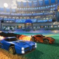 Deux voitures de Rocket League