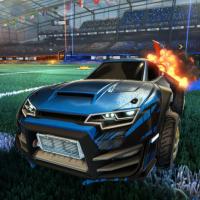 Une voiture dans Rocket League