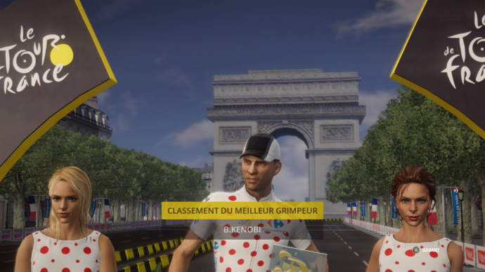 Bobywan Kenobi, meilleur grimpeur du Tour de France 2015