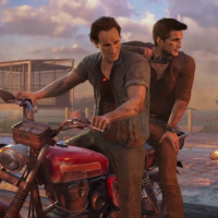 Uncharted 4 : A Thief's End Nathan sur une moto