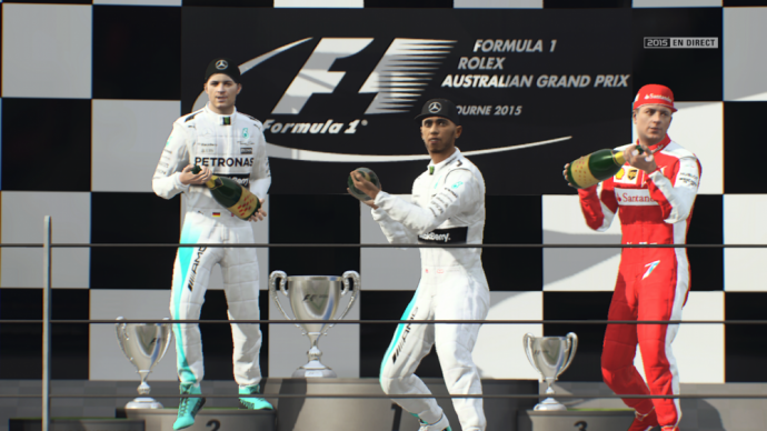 Les podiums de F1 2015