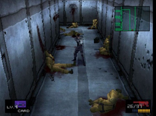 Metal Gear Solid couloir soldats morts